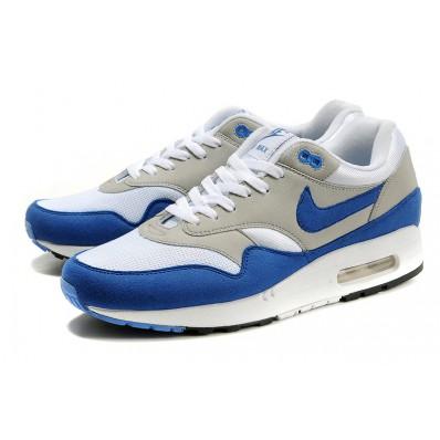 air max 1 blauw wit