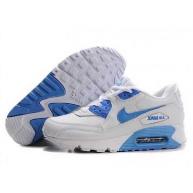 air max 90 blauw wit