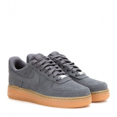 nike air force 1 grijs suede