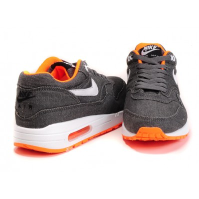 nike air max 1 grijs oranje