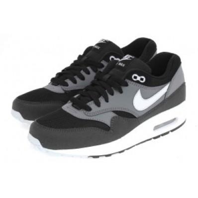 nike air max 1 grijs zwart