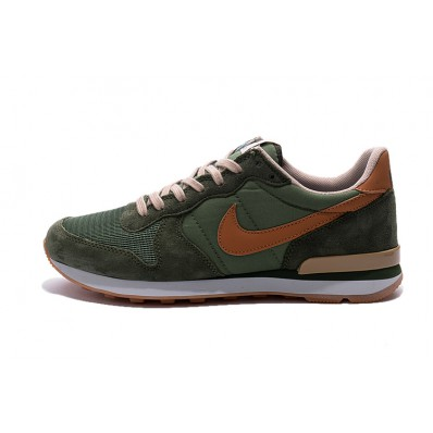 nike internationalist dames groen zwart