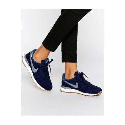 nike internationalist premium dames blauw