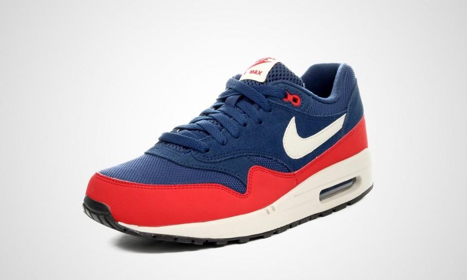 air max 1 blauw rood