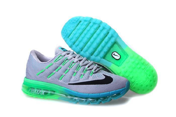 nike air max blauw groen