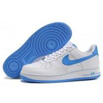 nike air force 1 heren blauw wit