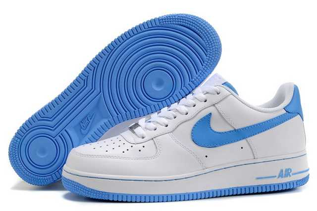 nike air force 1 heren blauw wit